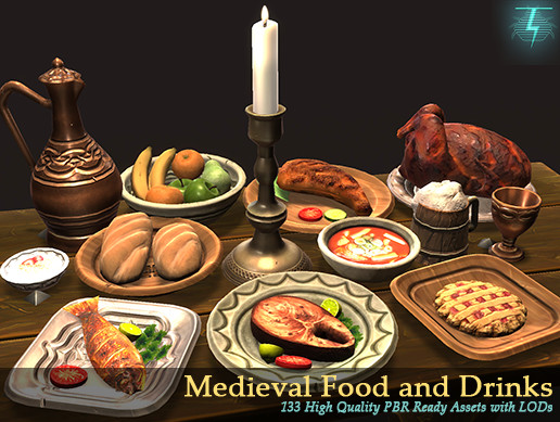 Medieval Food and Drinks Mega Pack
