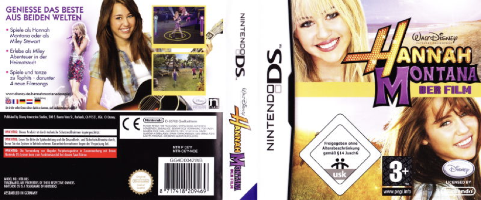 Hannah Montana the Movie for Nintendo DS