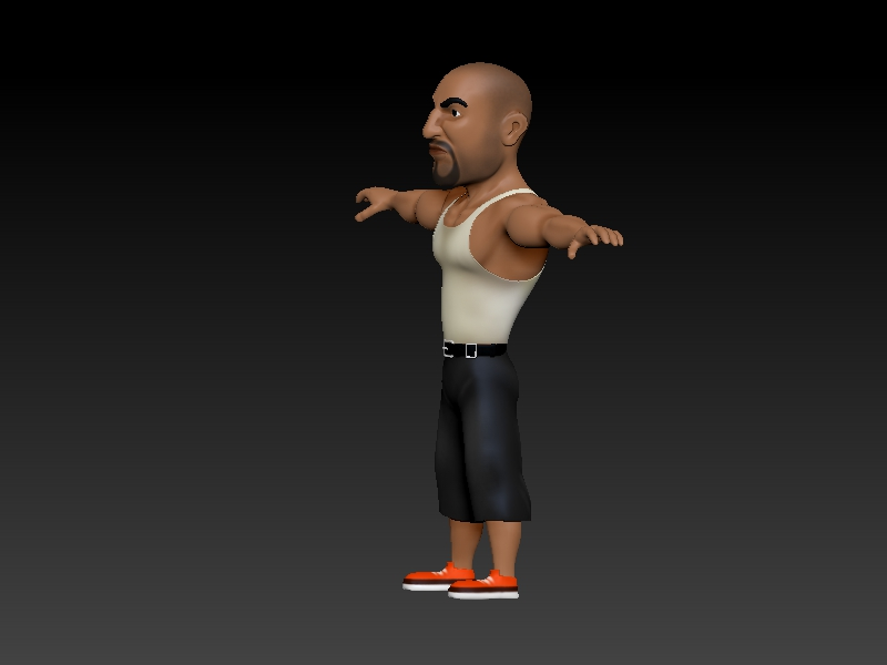 A low poly gangster