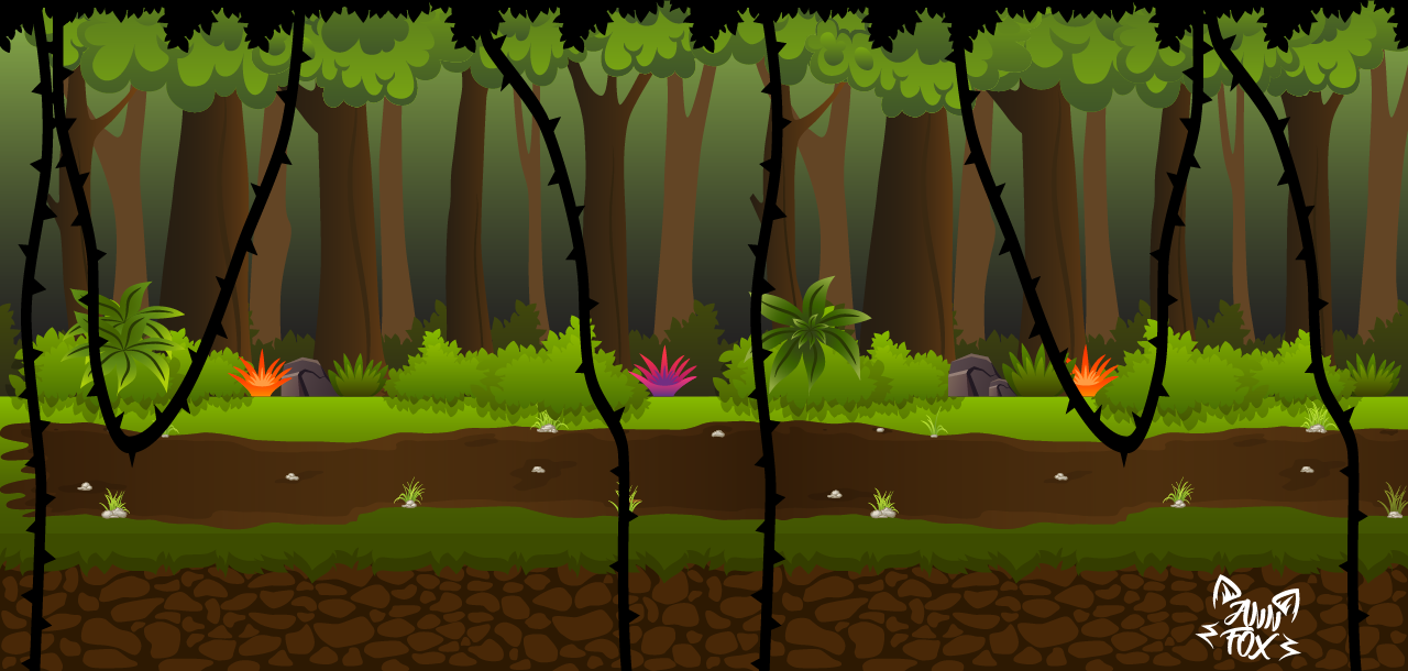 Background with parallax for 2d game runner