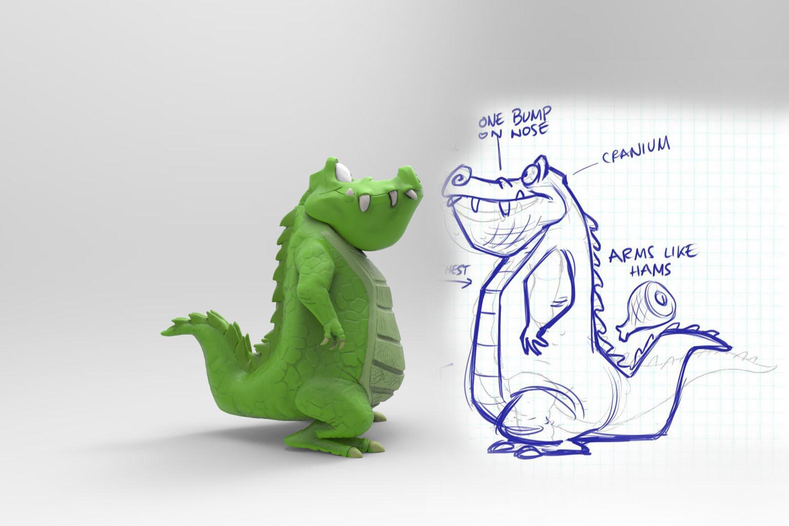 Aligator - 3D Model