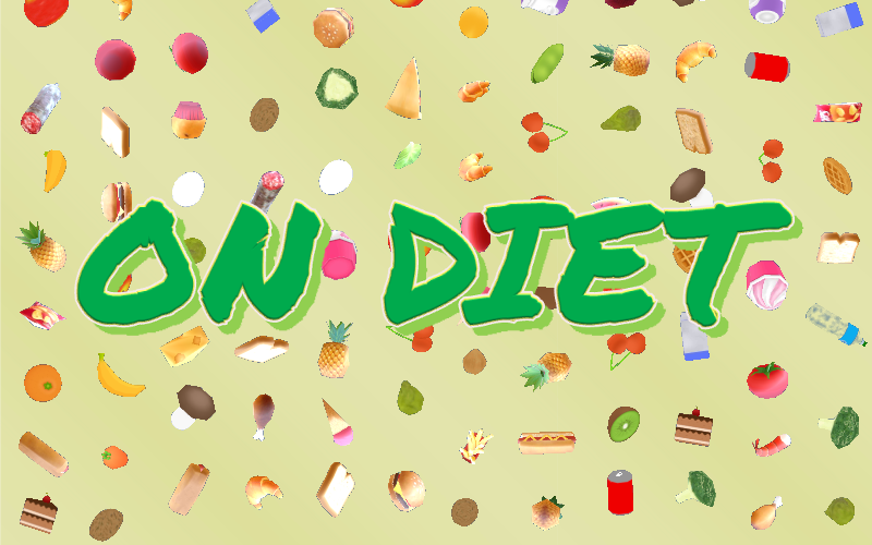 On Diet - A mobile 3D food catch game
