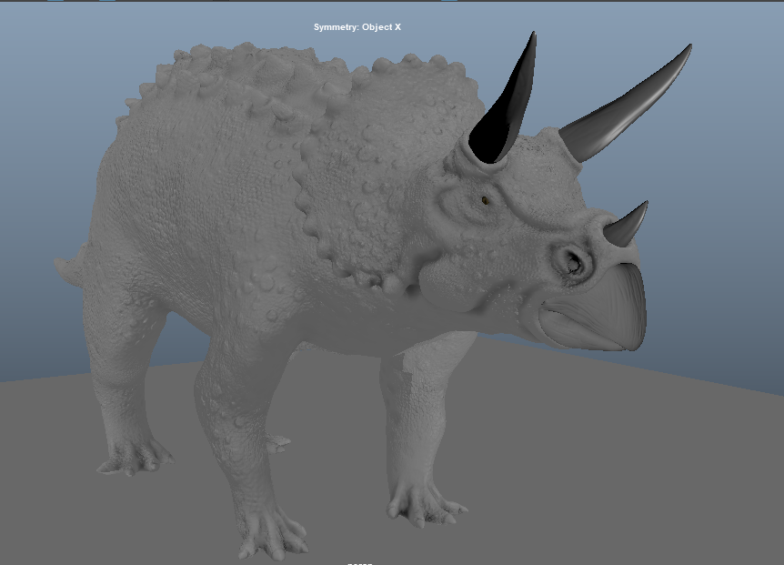 Triceratops Horridus Game ready Model