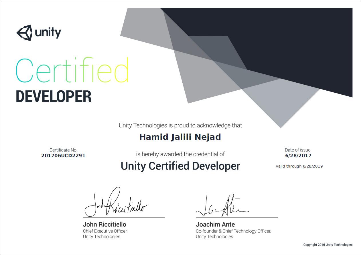 Unity Certified Developer