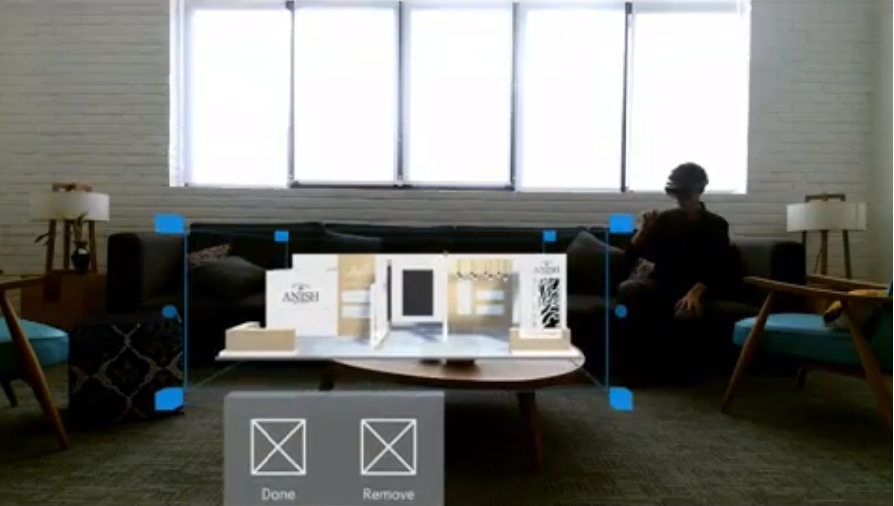 Microsoft augmented reality Hololens for home designing