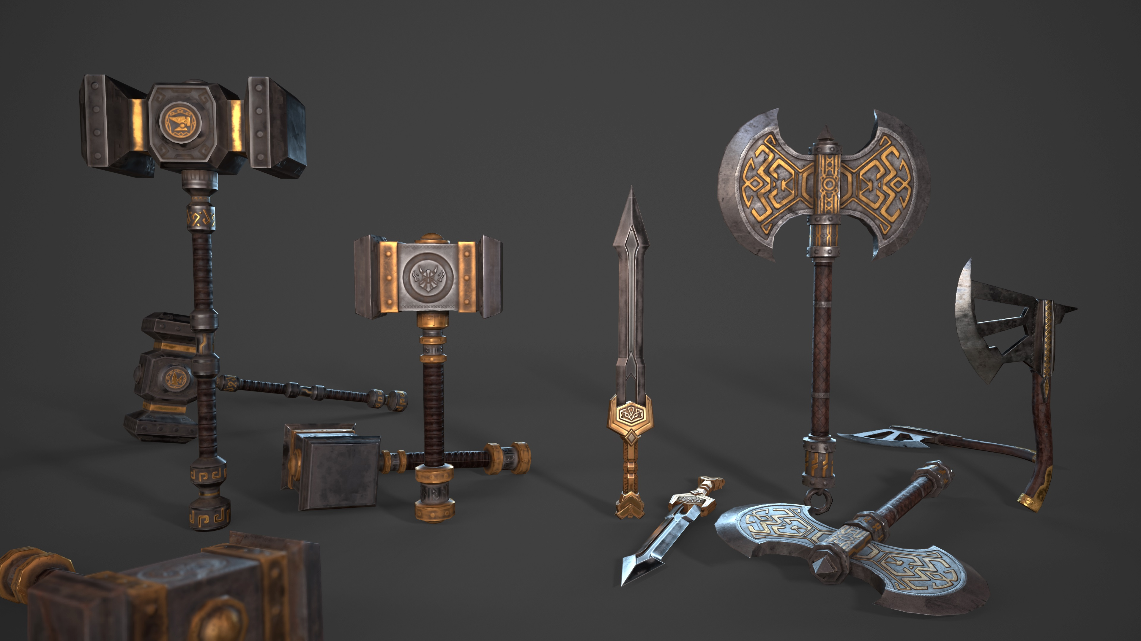 Dwarven Weapons for Game