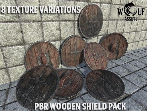 PBR Wooden Shield Pack