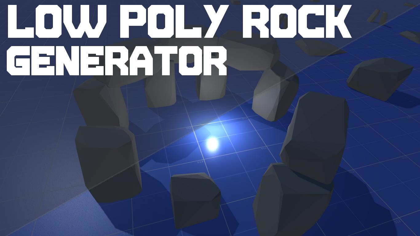 Low Poly Rock Generator
