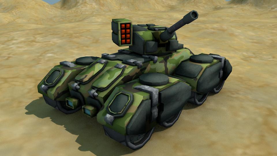 Sci Fi Tank - Game Ready