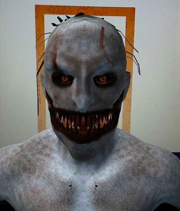 Scary Halloween card AR