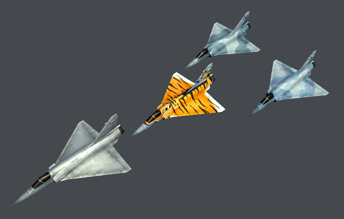Mirage 2000C (Low Poly)