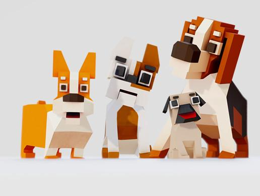 Simple pack of Dogs