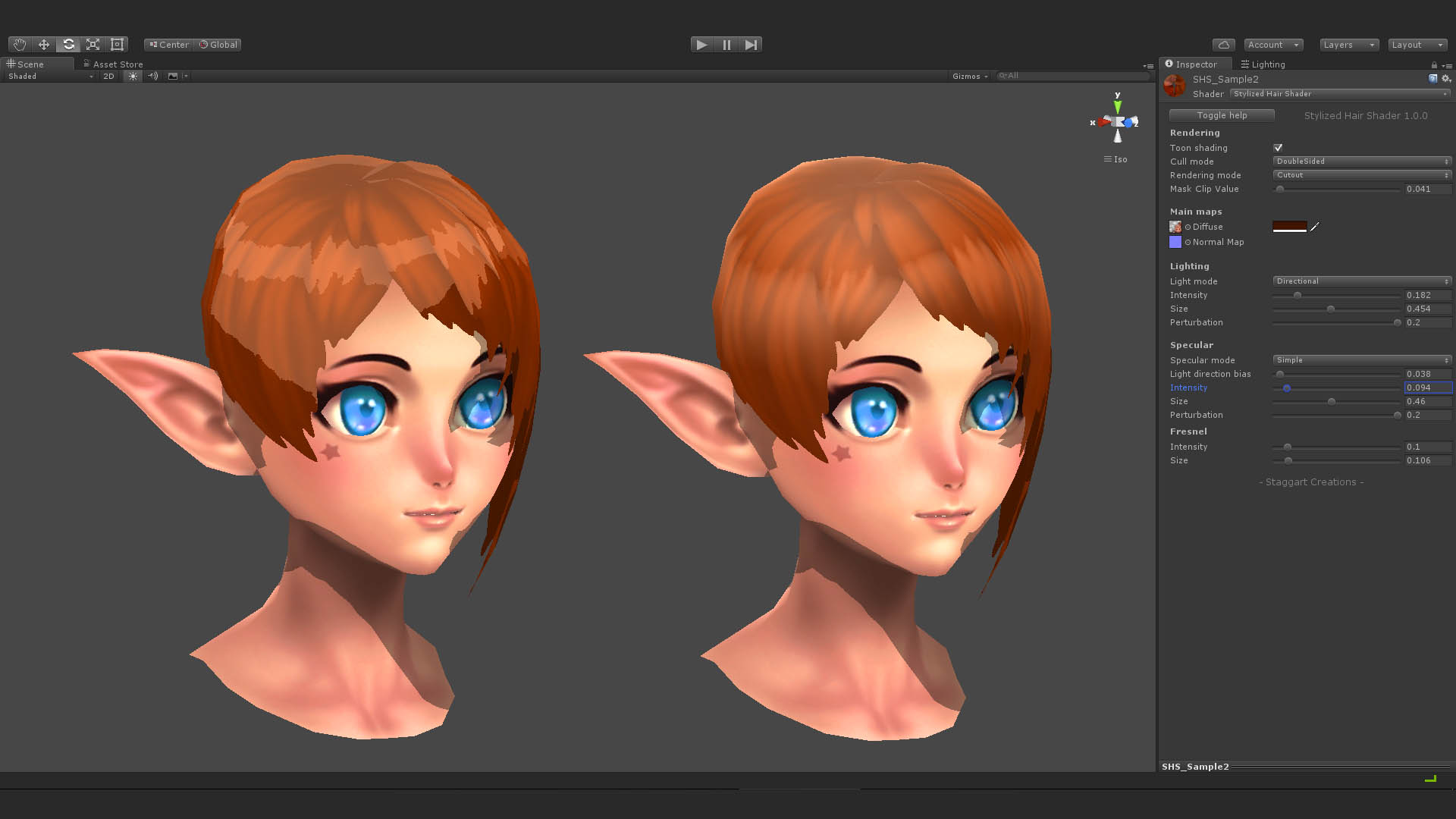 Stylized Hair Shader