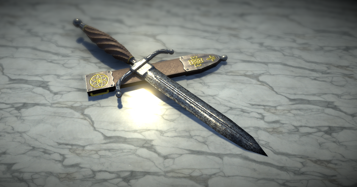 Damascus dagger for Unity