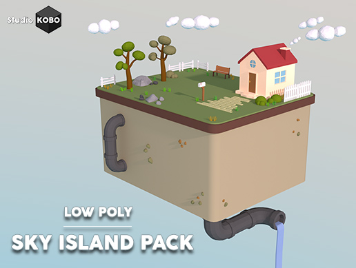 PROJECT: Low Poly - Sky Island