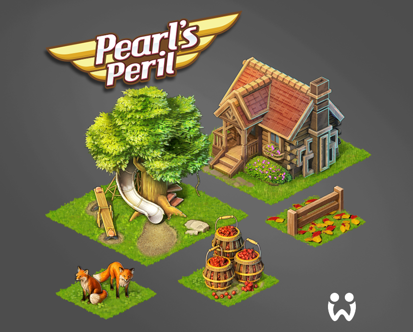 Pearls Peril, Isometric Objects