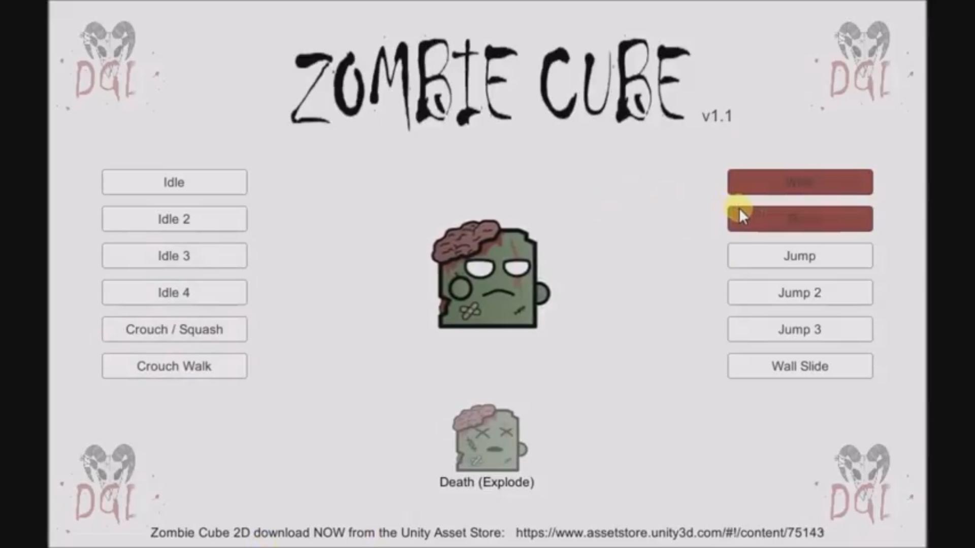 Zombie Cube 2D