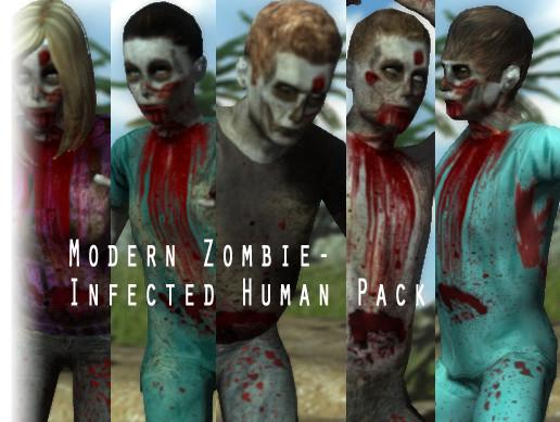 Modern Zombie - Infected Human Pack