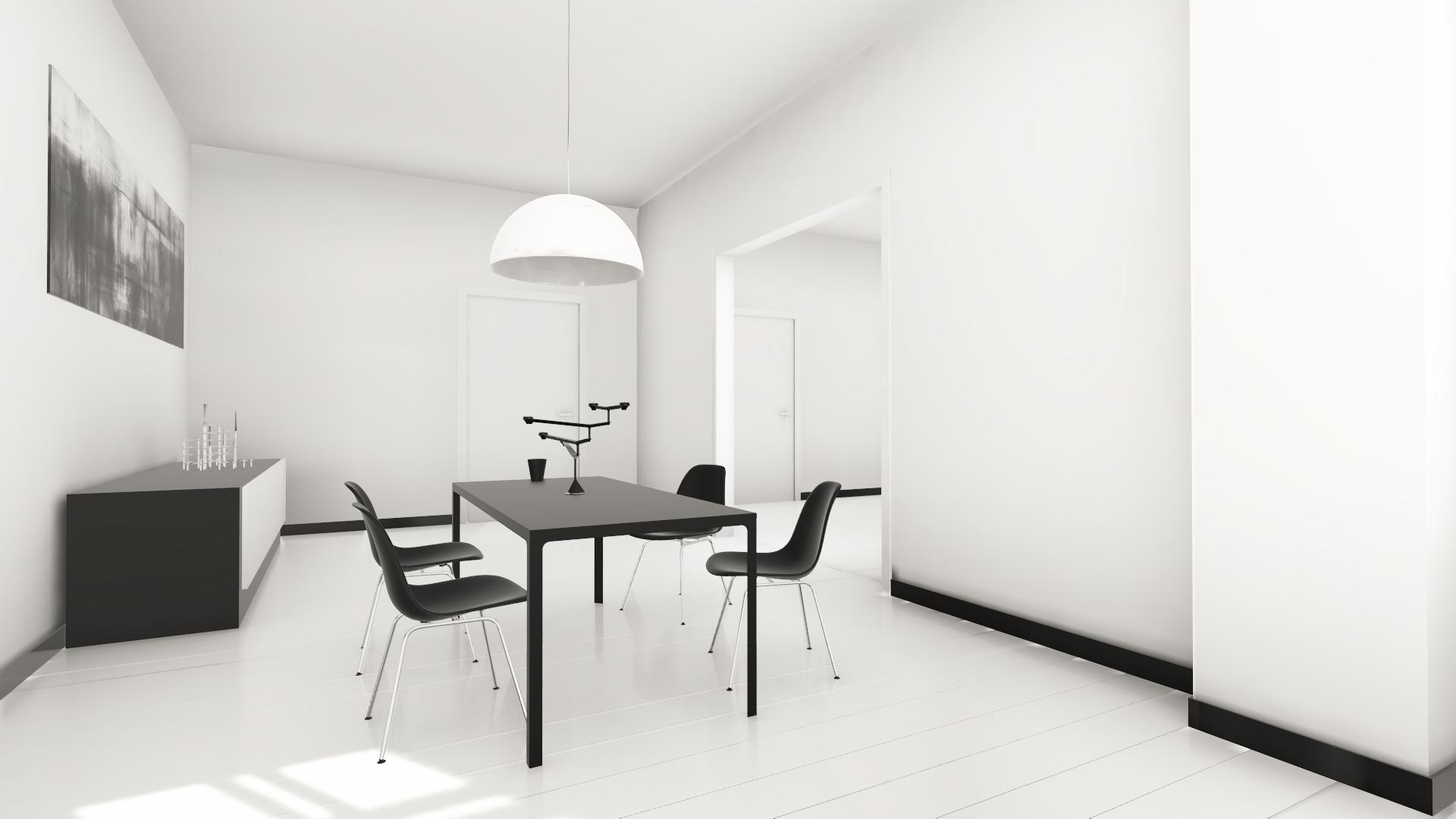 Realtime Rendering - White Bedroom