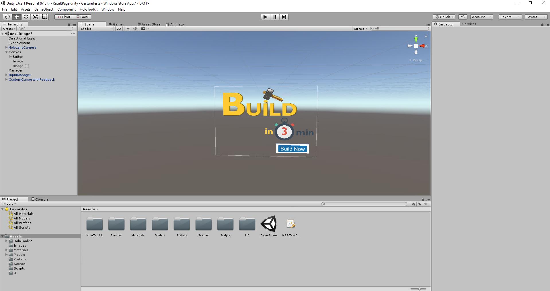 Build in 3 min