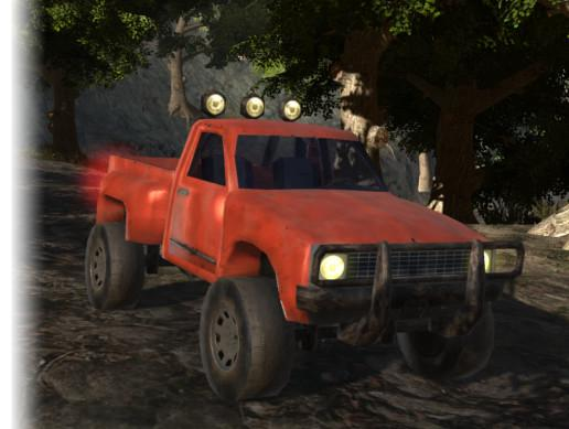 Offroad pickup + animated hands