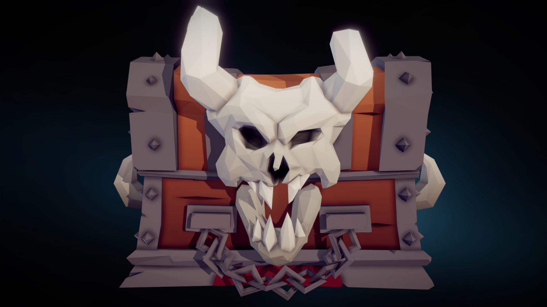 Lowpoly Skullchest