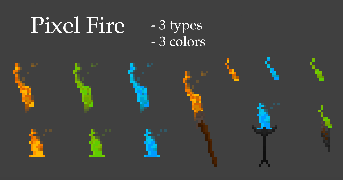 Pixel Fire animations