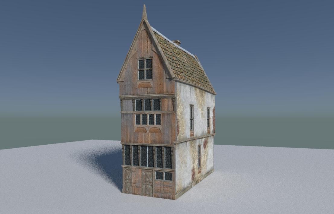 Medieval Building Model - Blender