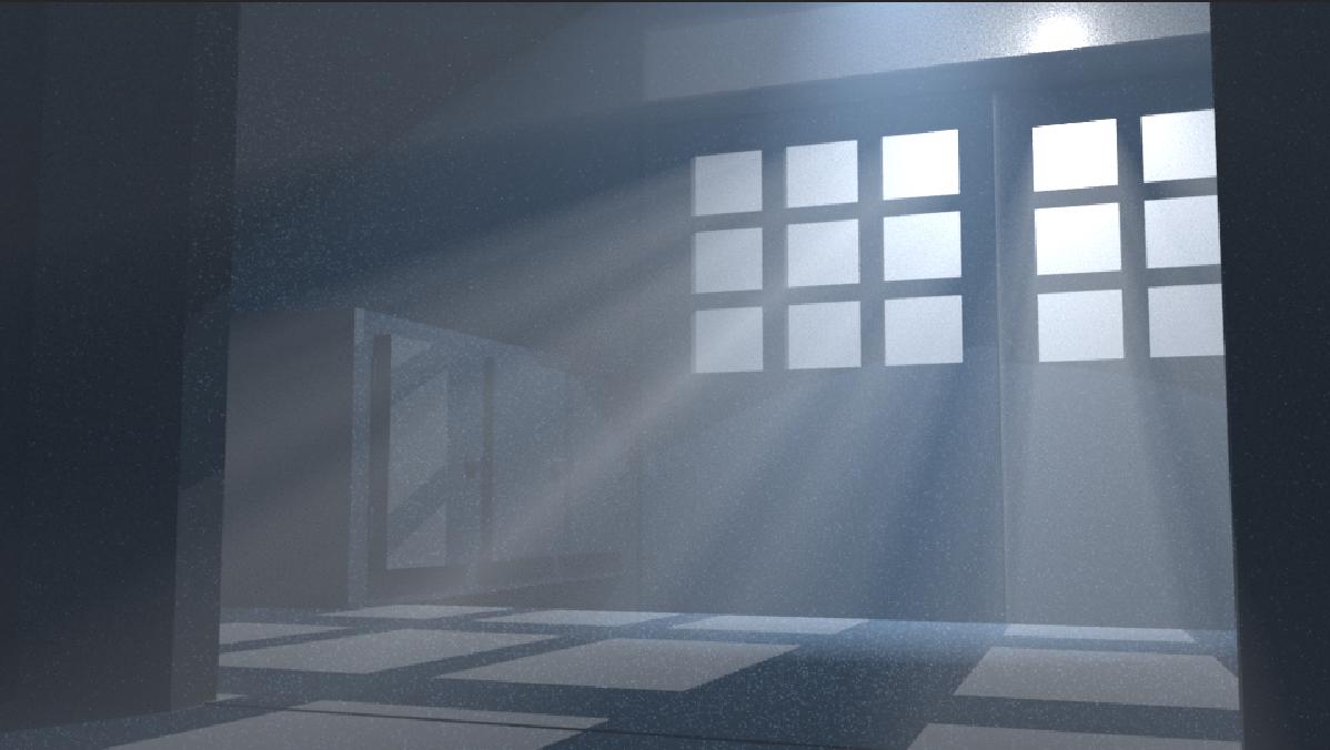 Volumetric Lighting 3D Horror Environment.