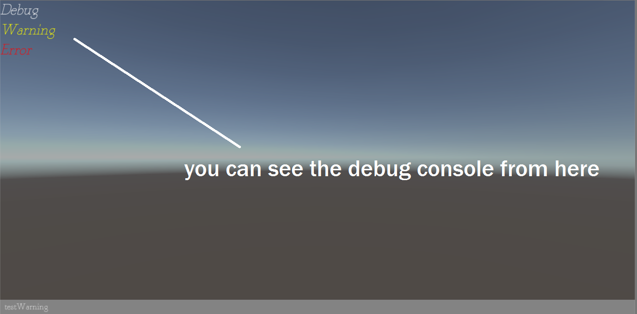 Easy Debug-In Game Console For Debugging