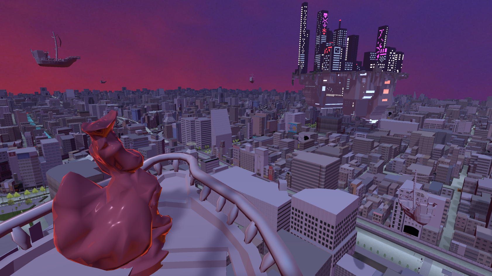 [W.I.P] Neon city is under attack ...