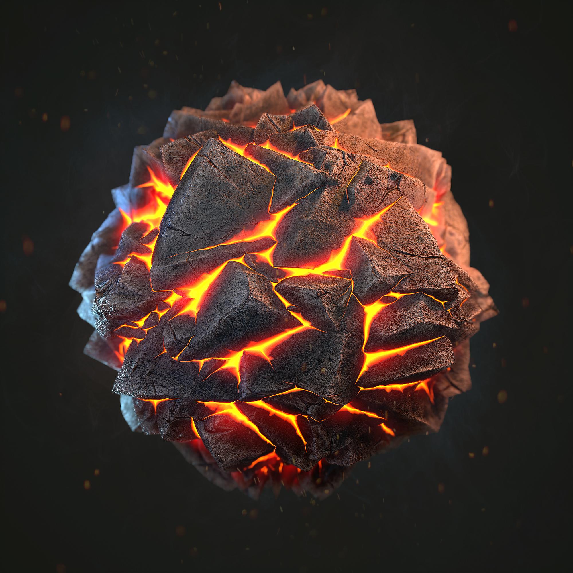 Magma_Land PBR Materials