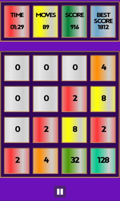 Rainbow 2048