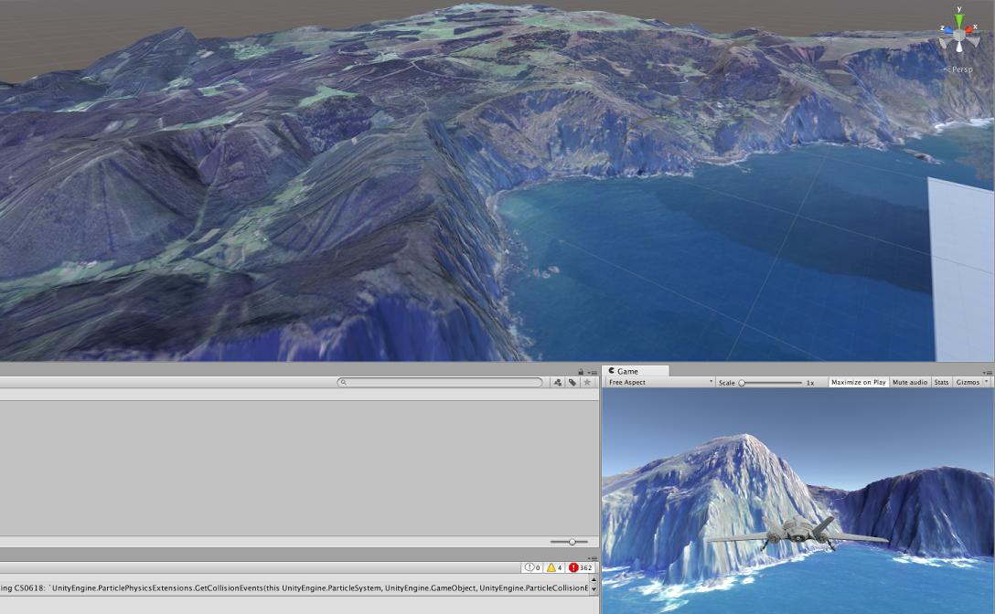Real terrain simulation