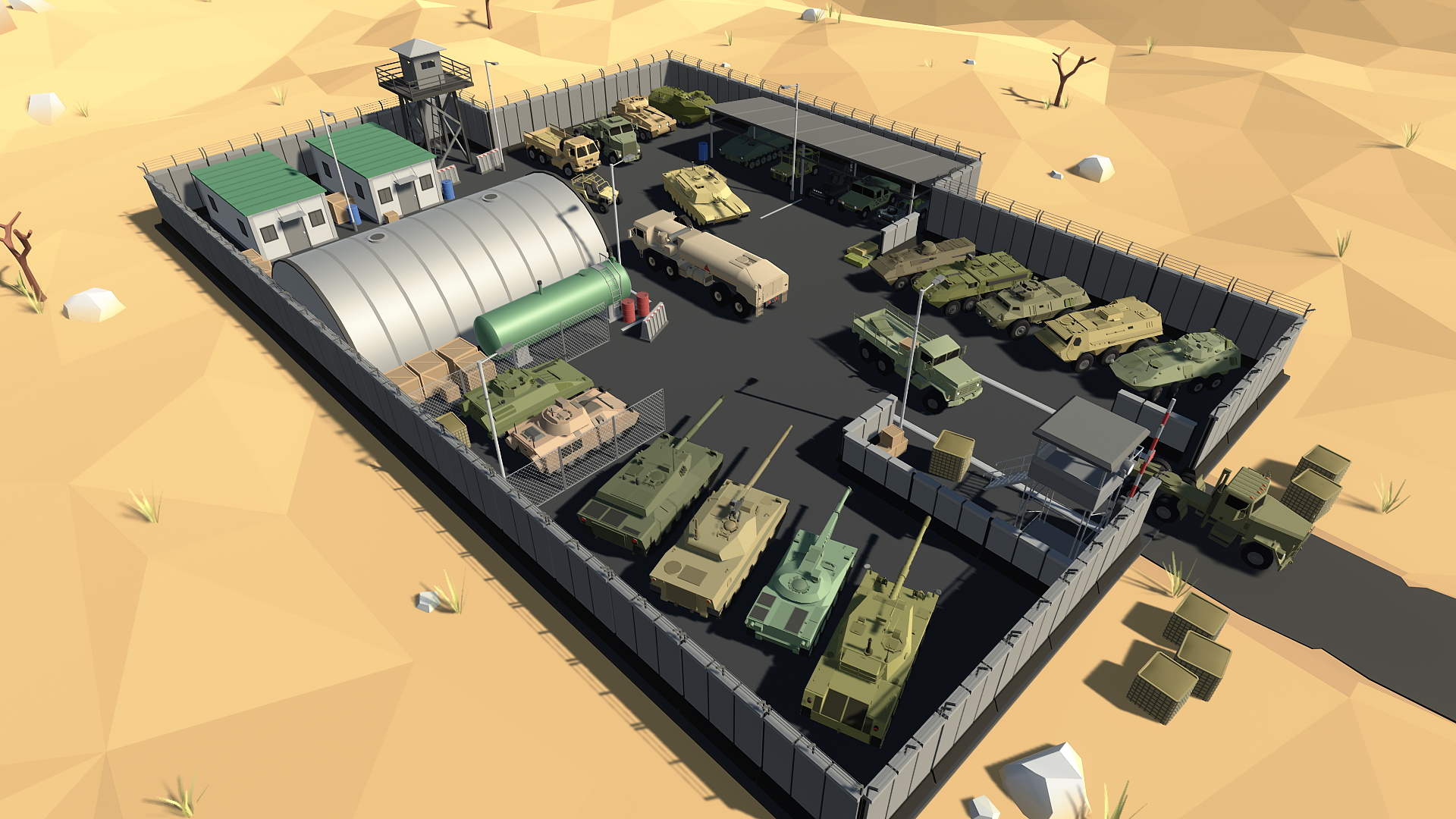 Stylized Military Vehicles Pack