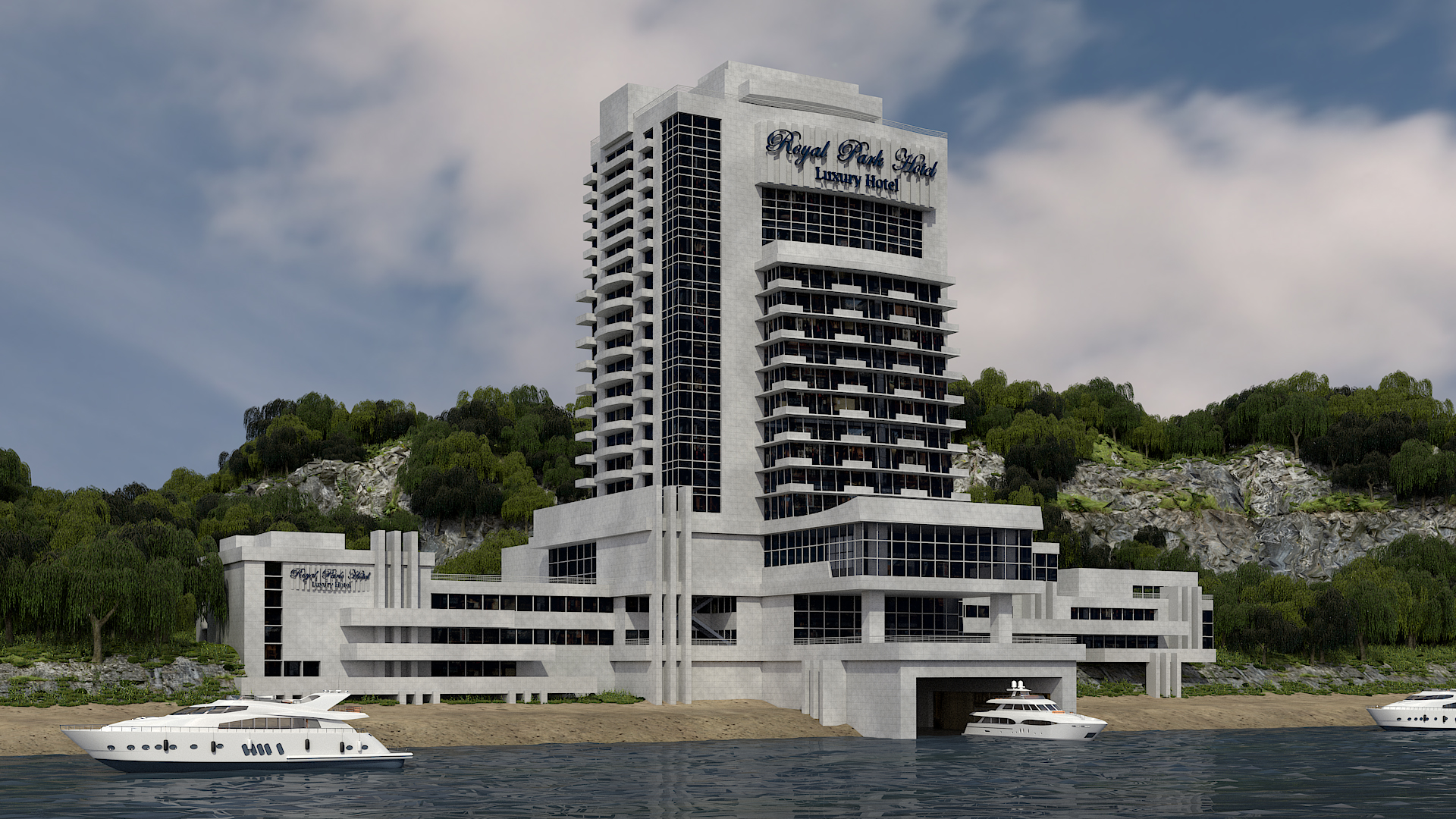 Architectural visualization | Lake hotel