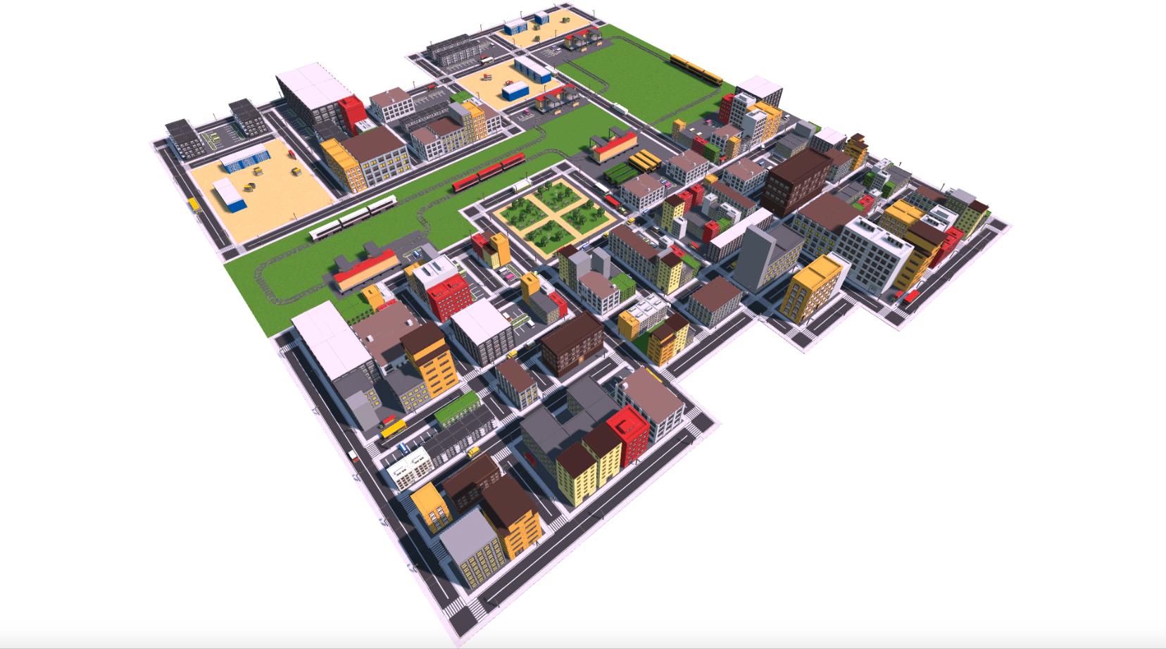 Urban City 3D Models