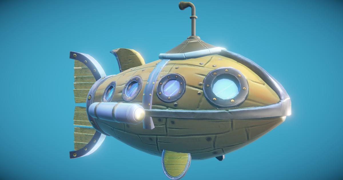 Steampunk Fish Submarine