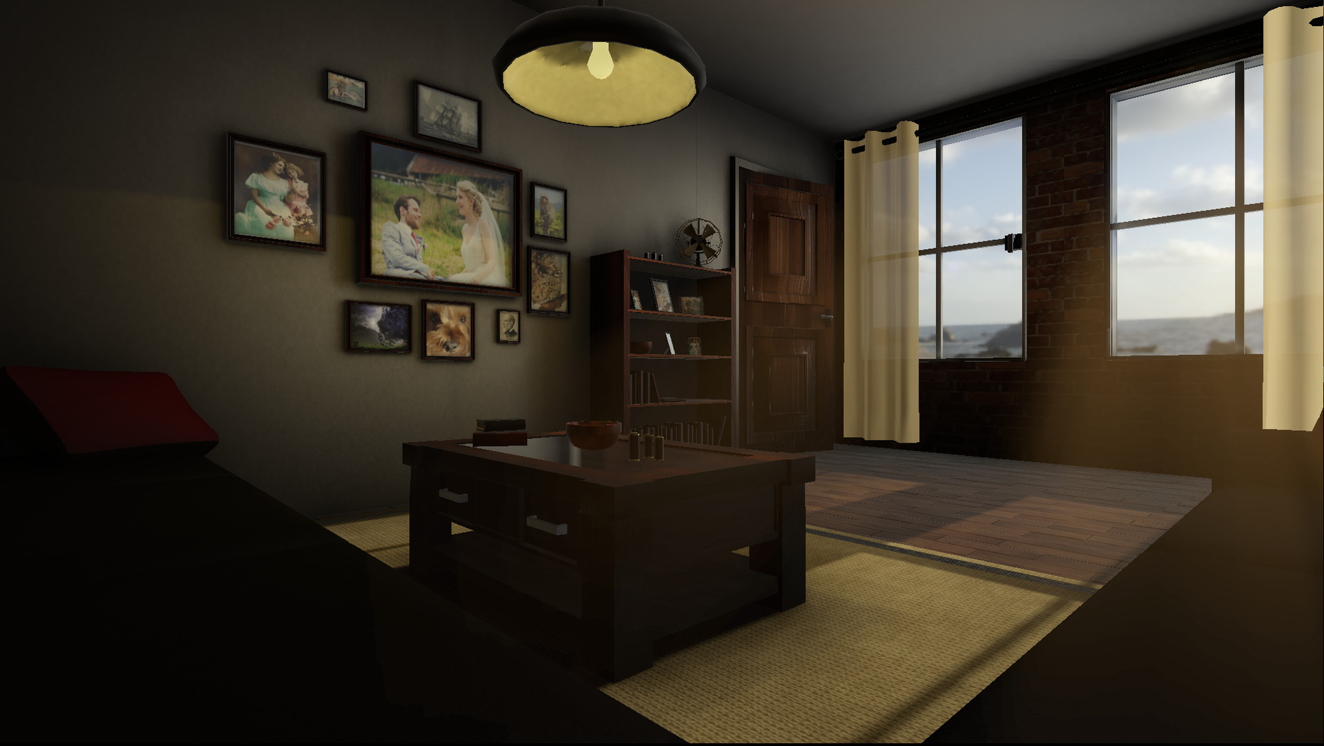 Living room in Unity