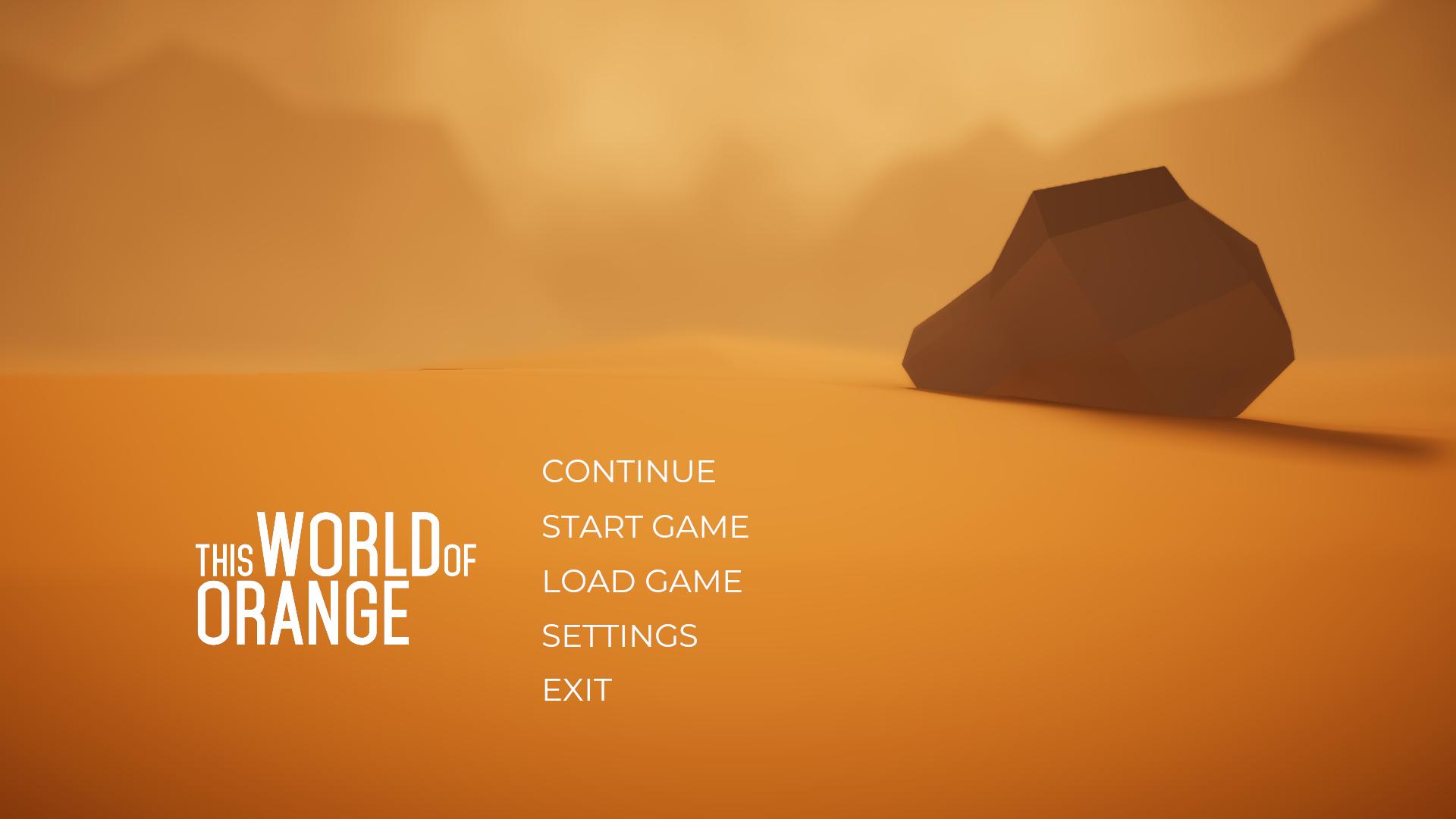 Main Menu Design & Animation | This World of Orange