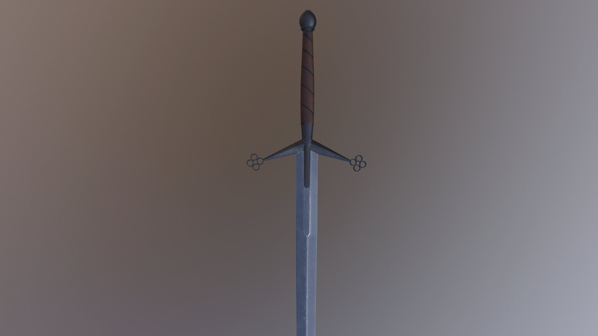 Claymore, two-handed sword, historical,  PBR 4K