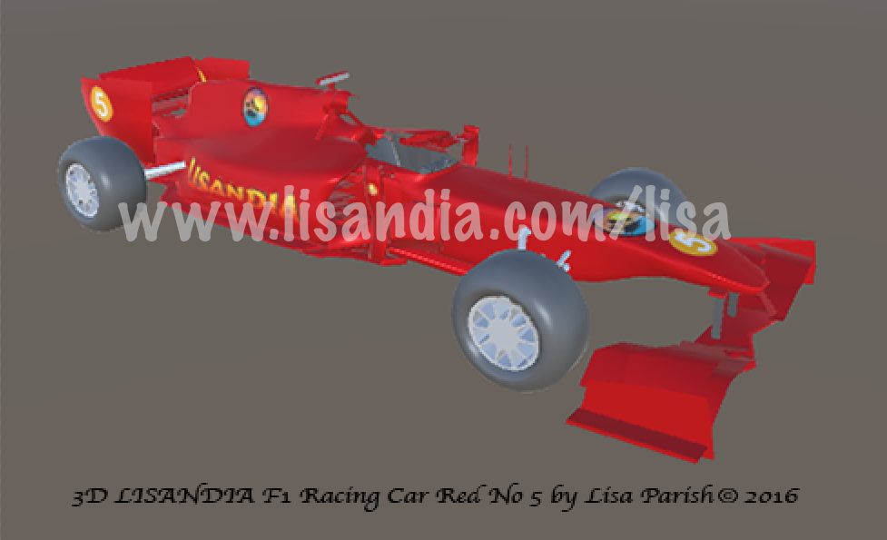 3D Lisandia F1 Racing Car