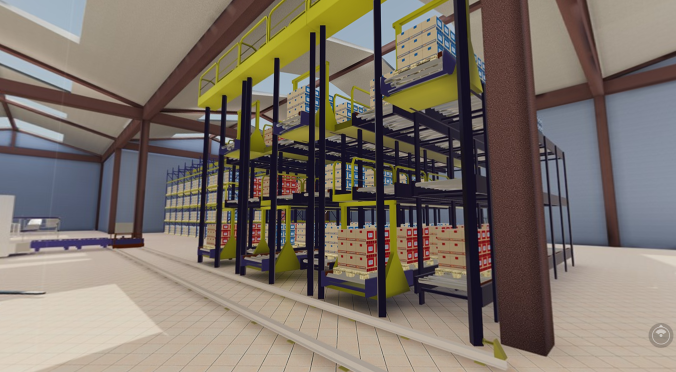 Virtual Reality Interactive Automatic Warehouse Simulation