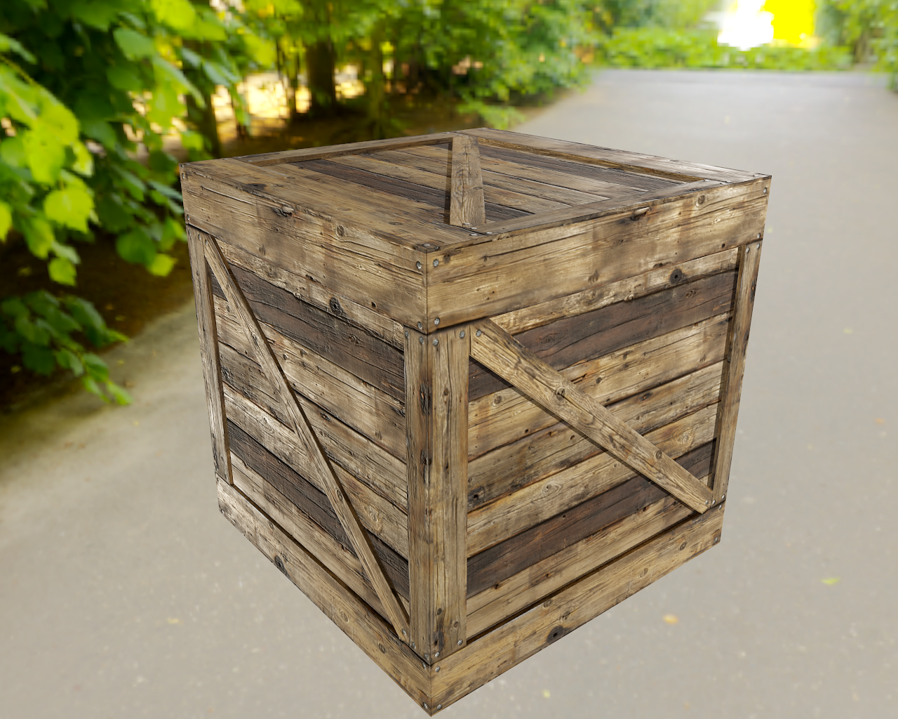 Crates and boxes asset