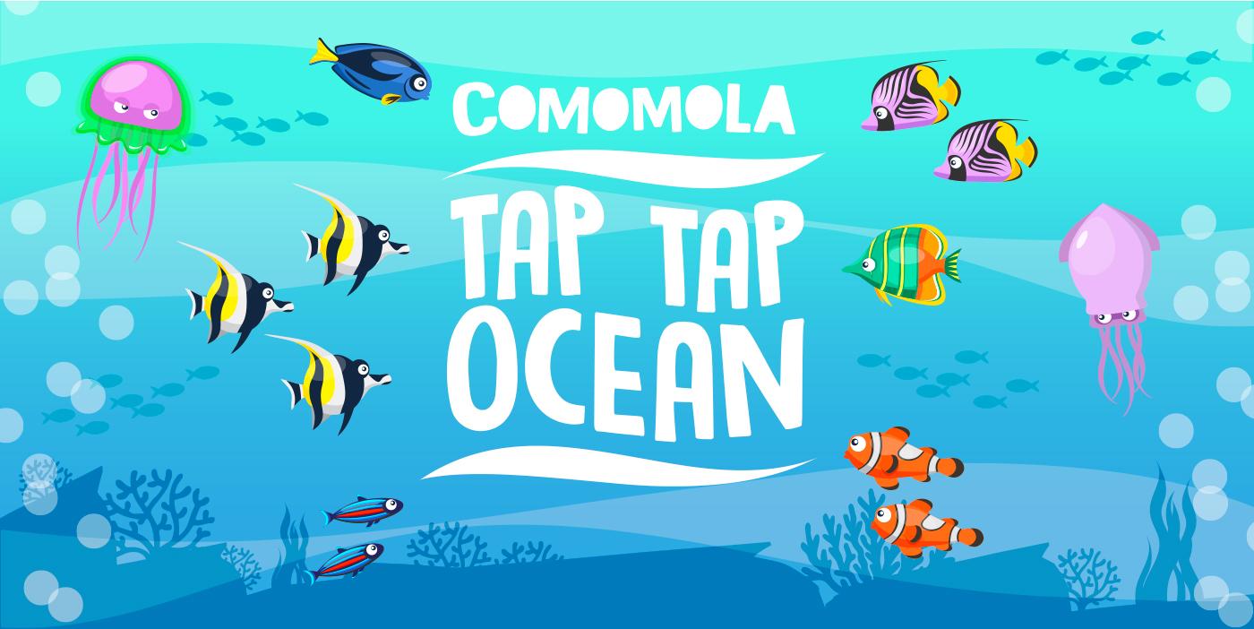 Comomola Tap Tap Ocean