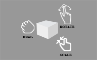 Unity plugin Drag Scale Rotate control model