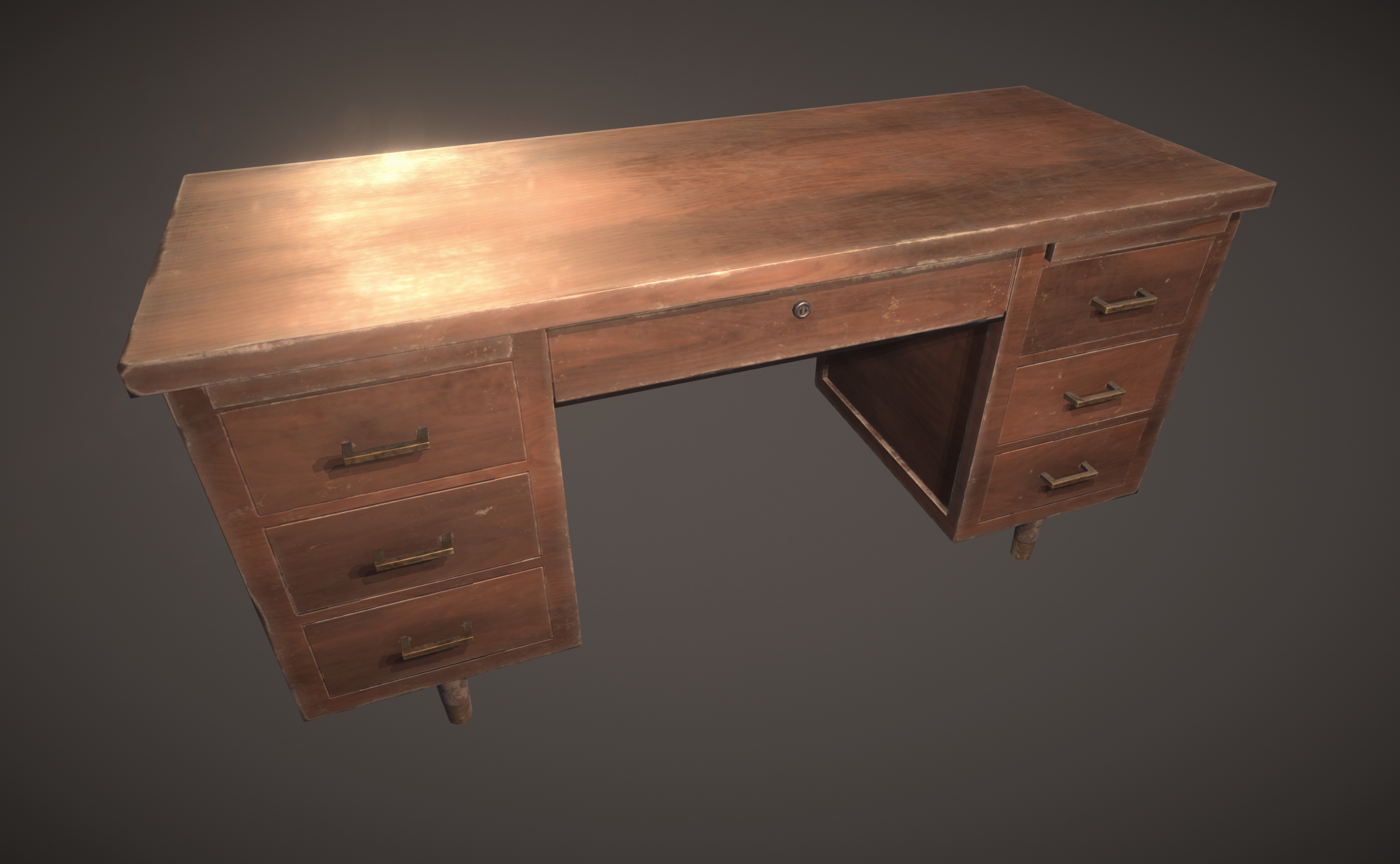 PBR Wood desk