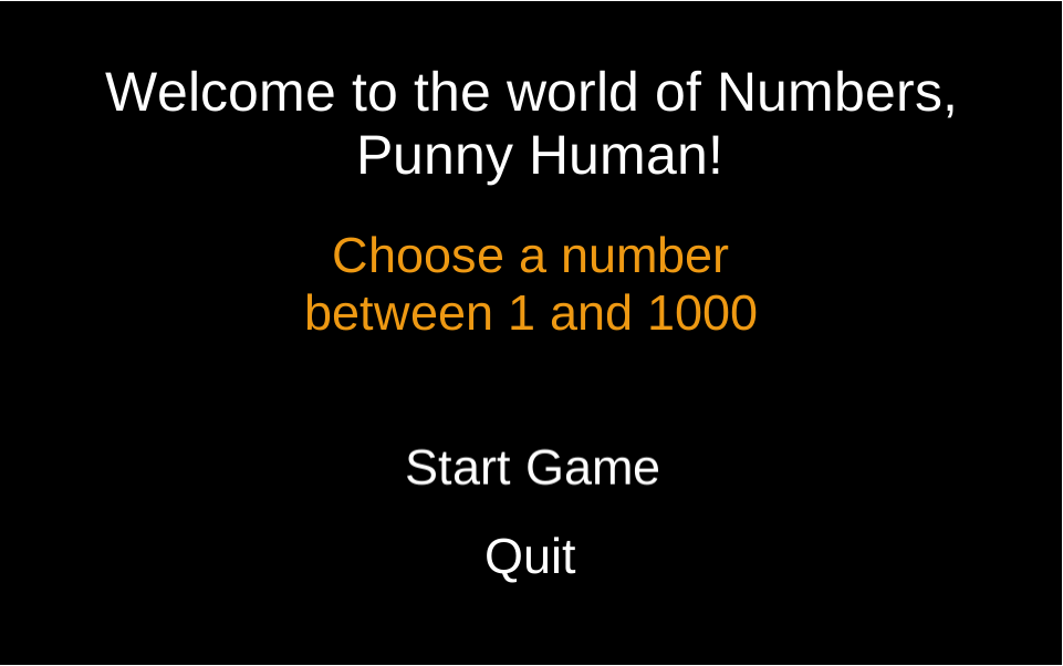 Number guessing robot
