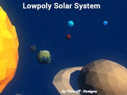 Lowpoly Solar System