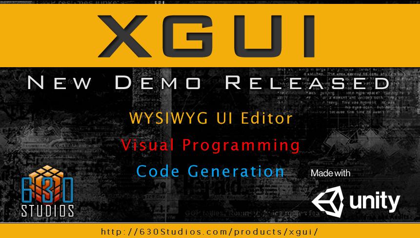 XGUI - WYSIWYG & Code Generation